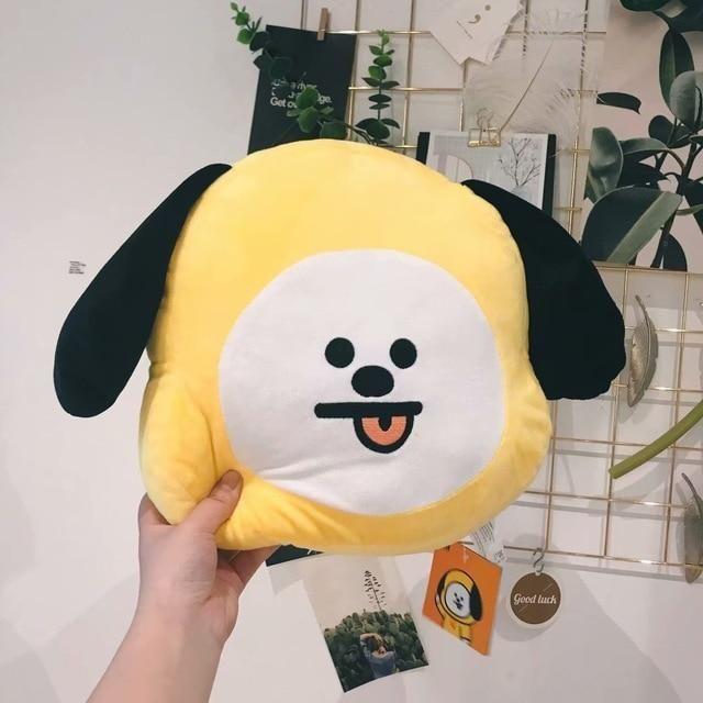 LINE FRIENDS BT21 Official Merchandise RJ Decorative Throw Pillows Cushion 16.5 Inch
