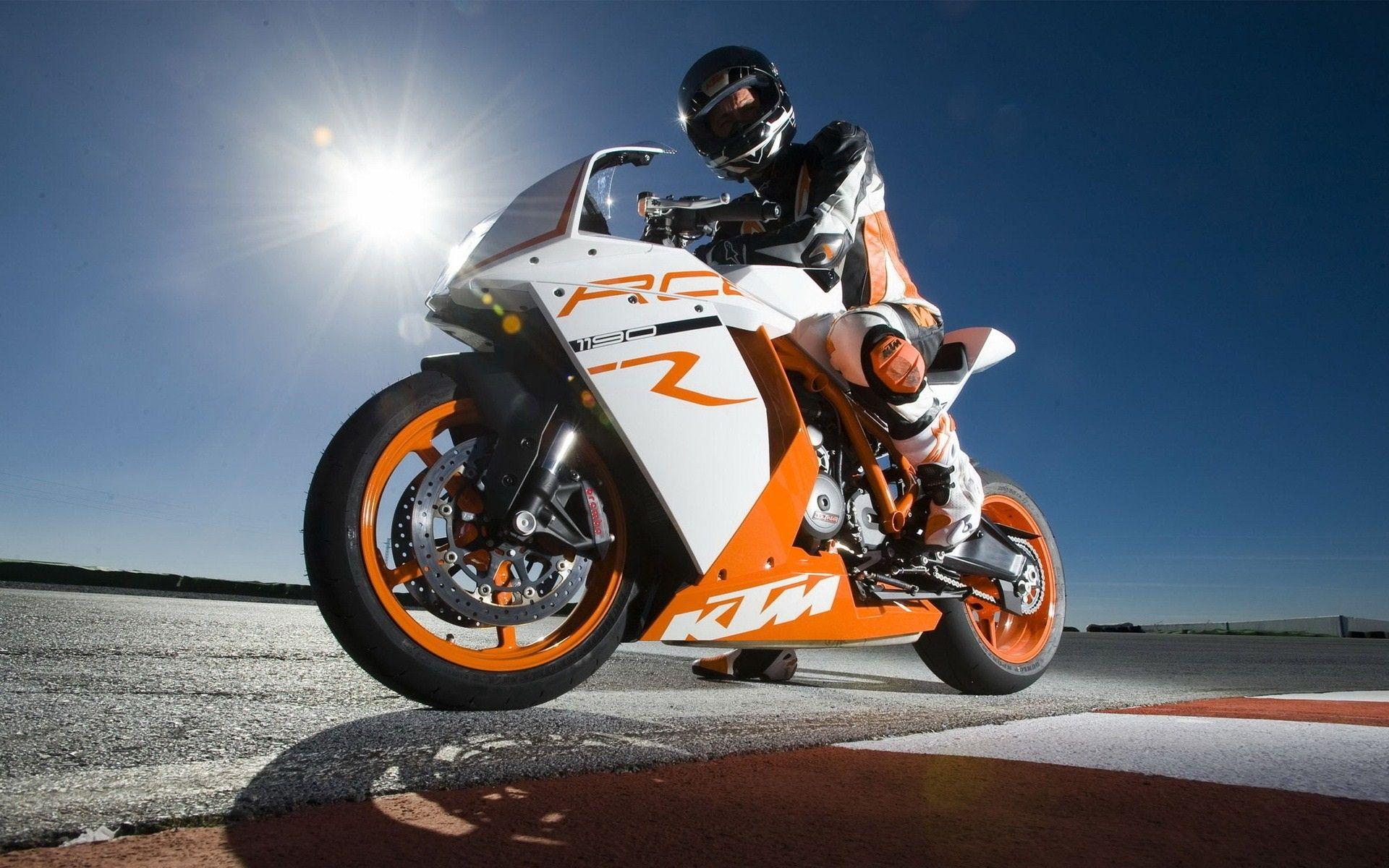 White Orange Ktm Bike Wallpaper Http Www Gbwallpapers Com