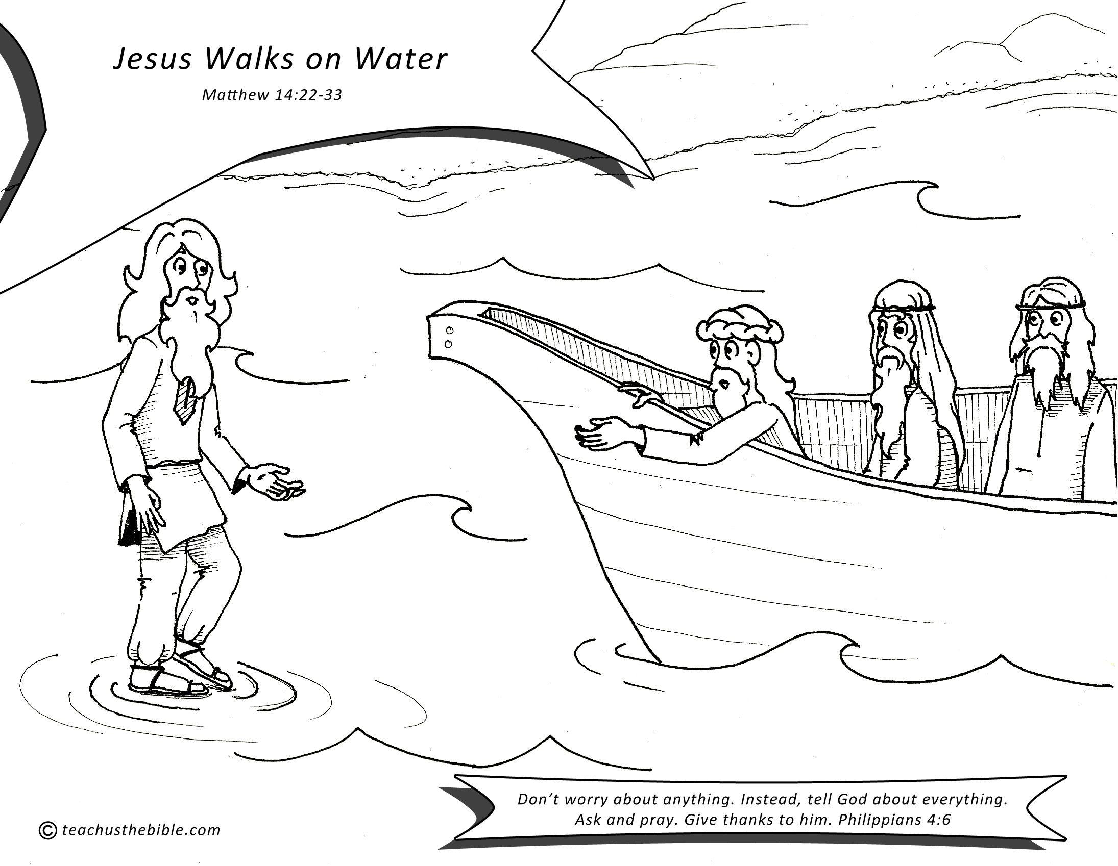 Jesus Walks On Water Teach Us The Bible Jesus Walk On Water