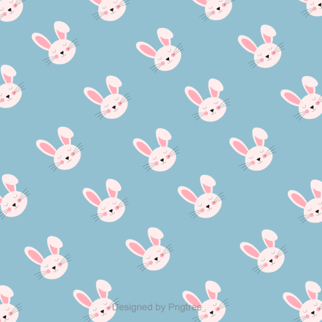 Cute Rabbit Blue Background Design Rabbit Happy Rabbit Background Png And Vector With Transparent Background For Free Download Easter Backgrounds Easter Wallpaper Easter Graphics