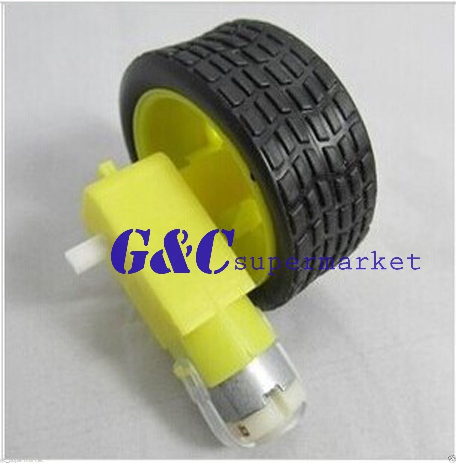 Arduino DC 3-6v Robot Plastic Tire Wheel with Gear Motor smart Car