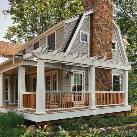 Hipped Gambrel Roof Home Design Ideas Pictures Remodel And Decor House Exterior Colonial Exterior Porch Design