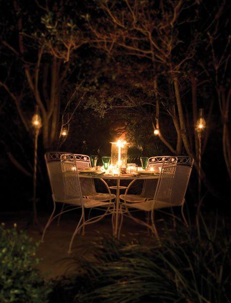 Candlelight Midnight Garden Outdoor Chandelier Garden