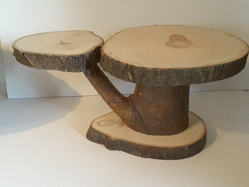 Rustic Tree Slice Display Stand Wedding Or Home Decor Cupcake