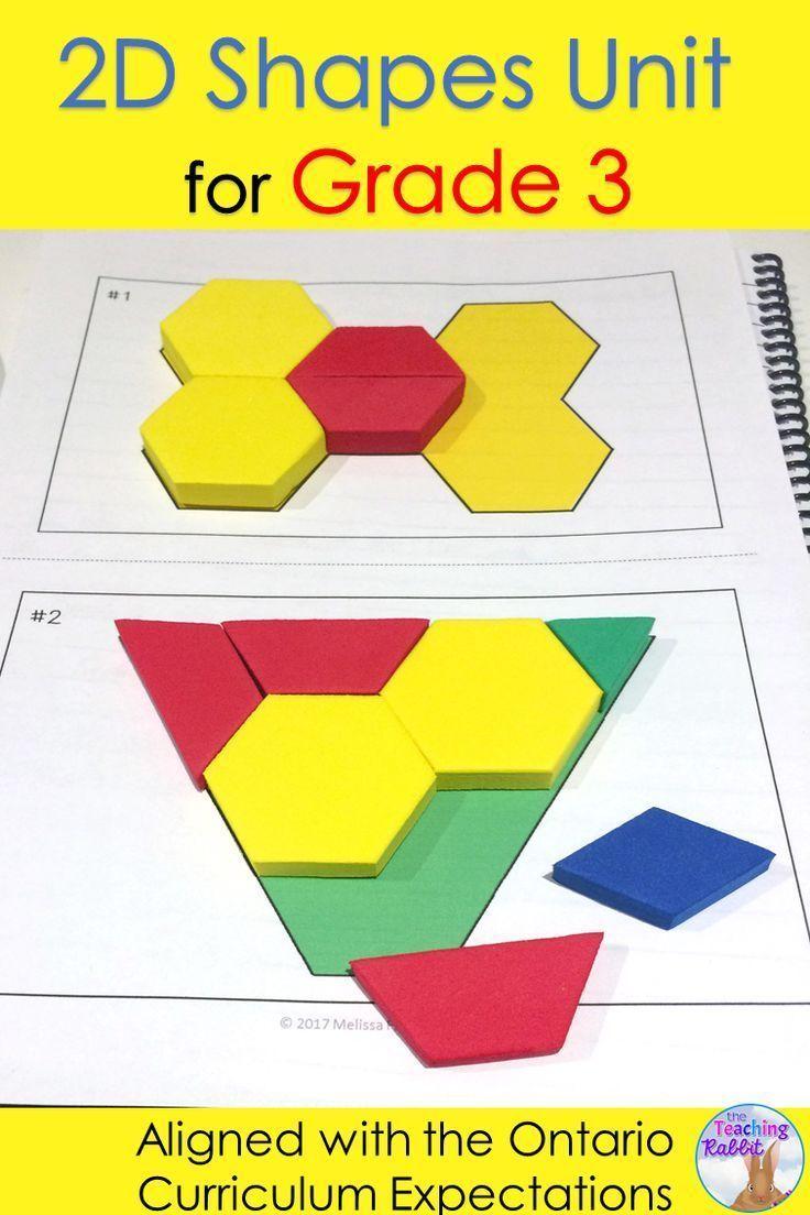 2D Shapes Unit For Grade 3 Tario Curriculum