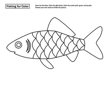 This Fun Coloring Page Asks Your Child To Identify And Color Basic Parts Of A Fish From Our Time Learn For Ages 4 6