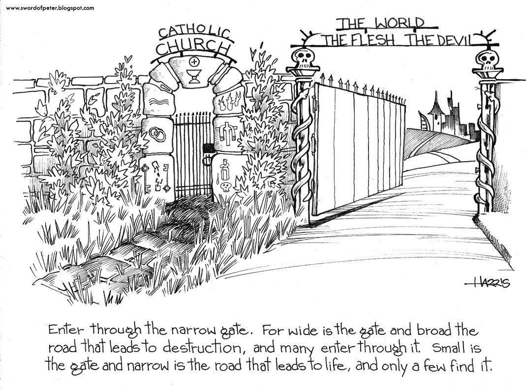 Enter Through The Narrow Gate Matthew 7 13 14 Catholic Faith
