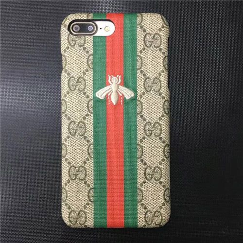 embroidery gucci iphone 7 plus case with bee women best. Black Bedroom Furniture Sets. Home Design Ideas