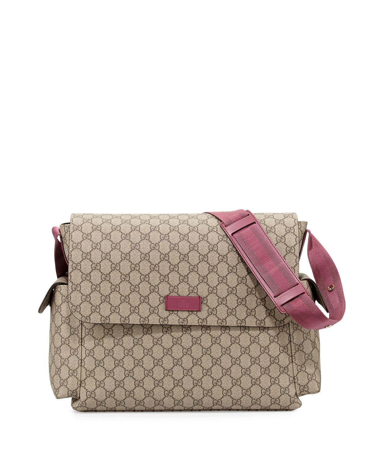 729309c06088 Guccissima Faux-Leather Diaper Bag w/ Changing Pad | Kids Style ...