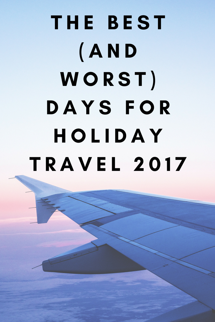 Here are the flying days to keep in mind for holiday travel 2017.