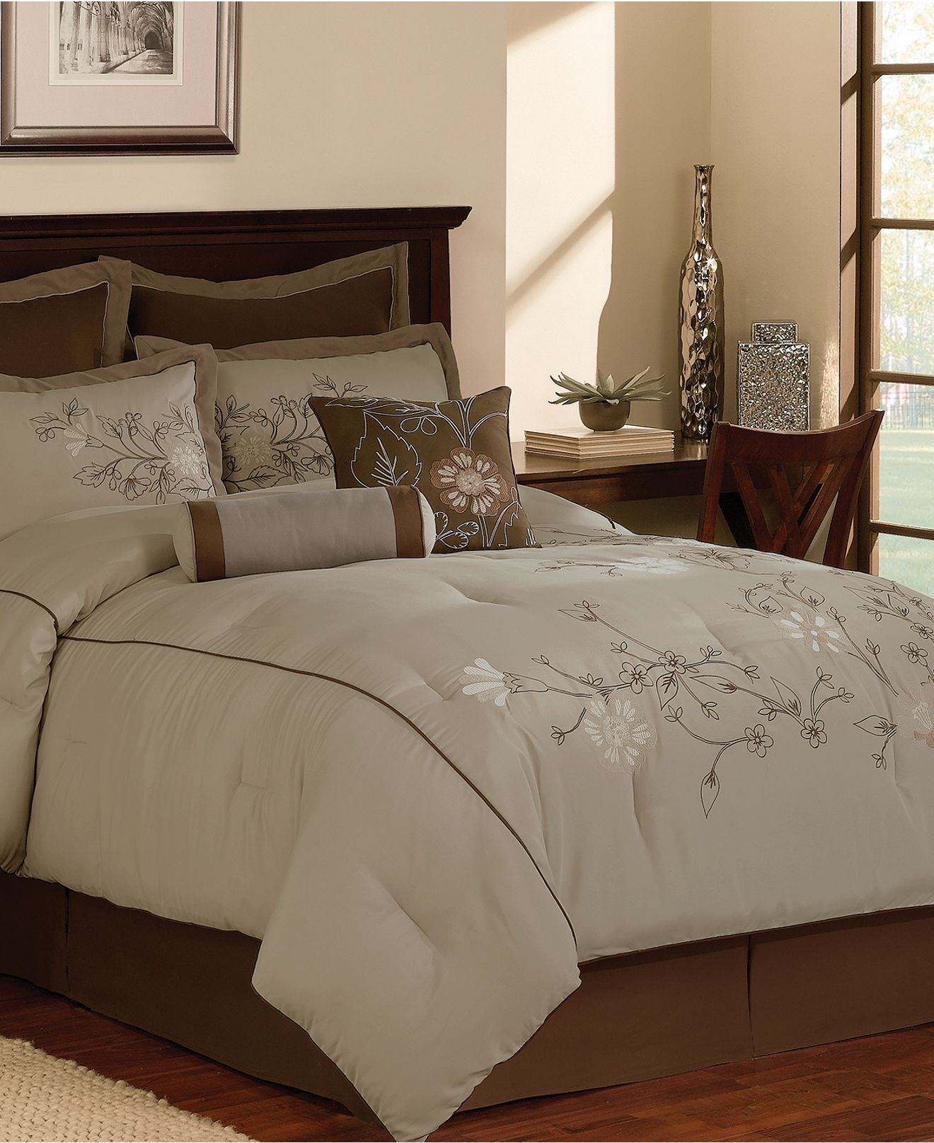 rosewater 8 piece comforter sets bed in a bag bed bath