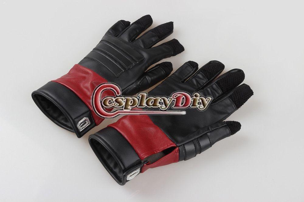 Cosplaydiy Deadpool Cosplay Adult Deadpool Cosplay Gloves Halloween Carnival Cosplay Costume Accessories