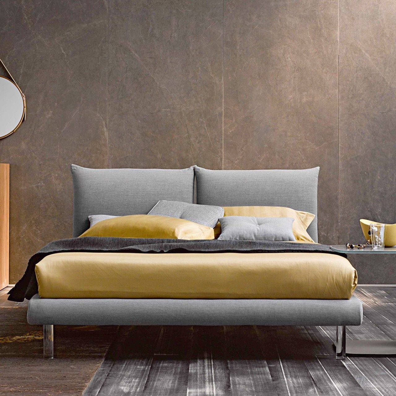 Modern Fixed Double Bed Letto matrimoniale, Idee