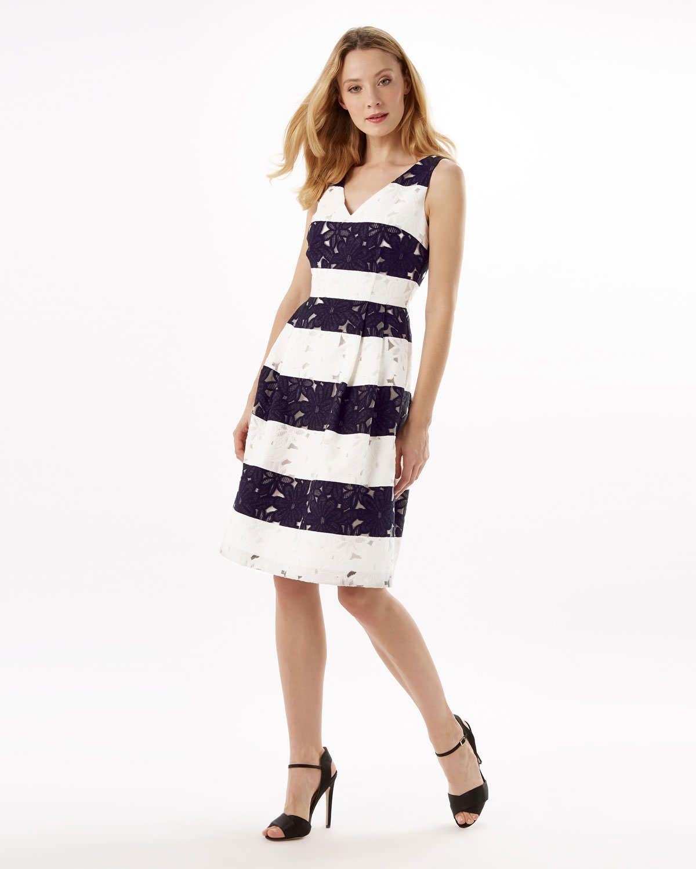 Phase Eight Bea Stripe Dress Blue Anchors Away Nautical Styles