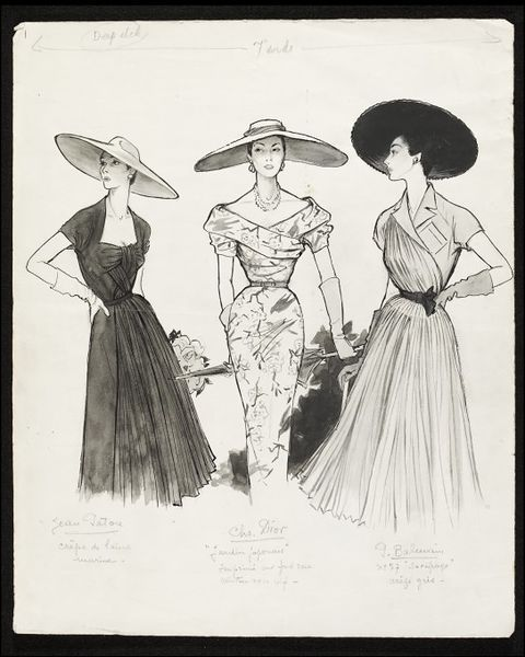 Photo of Fashion drawing | Fromenti, Marcel | V&A Search the Collections
