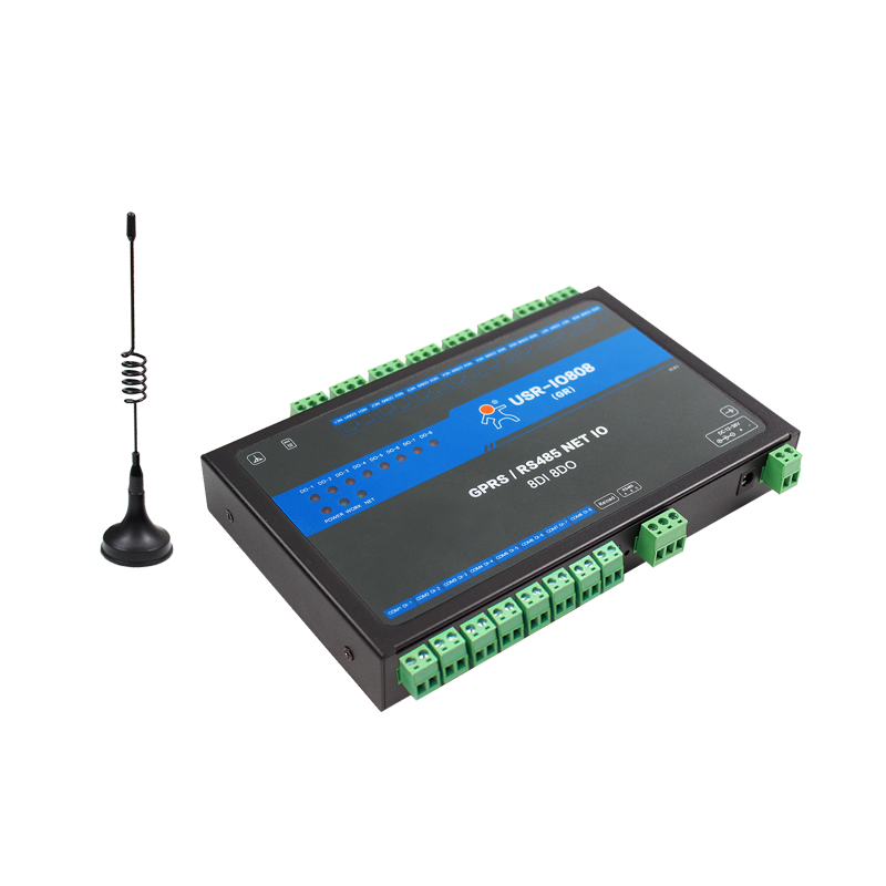 Usr Io808 Gr 8 Way Gprs Gsm Network Io Controller 8 Channel Arduino Data Transmission Simple Arduino Projects