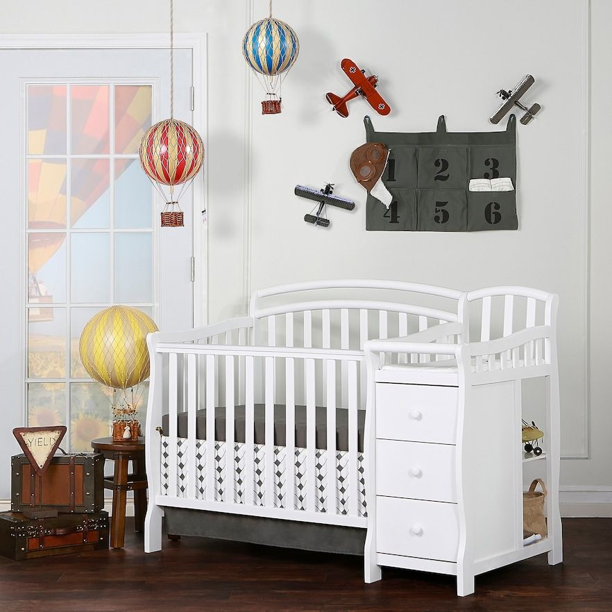 Dream On Me Casco 4 In 1 Convertible Mini Crib Set Kohls Cribs For Small Spaces Crib With Changing Table Crib Sets