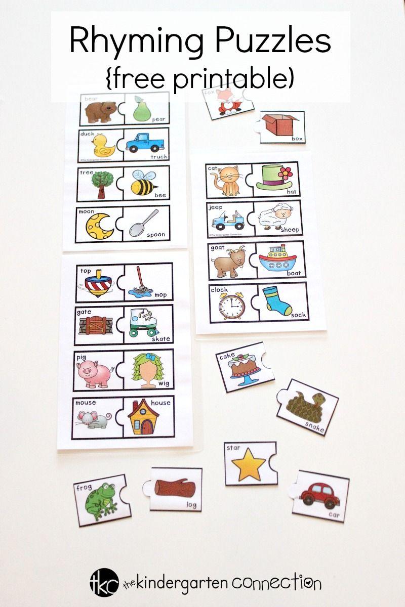 Rhyming Puzzles The Kindergarten Connection Literacy Centers Kindergarten Rhyming Activities Preschool Rhyming Kindergarten [ 1200 x 800 Pixel ]