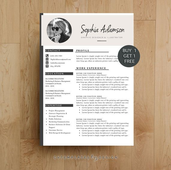 Creative Resume Template Cv Template For Ms Par
