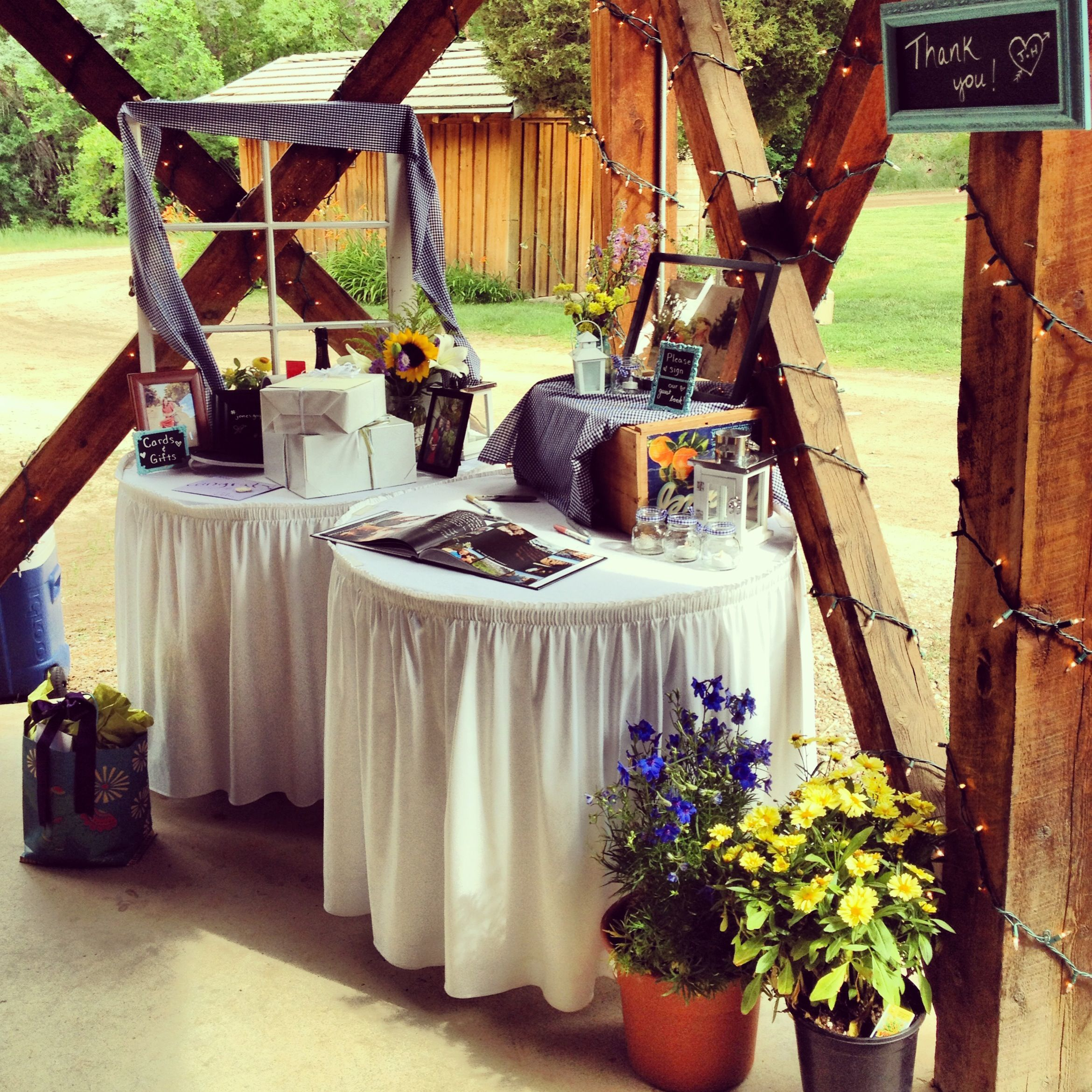 Wedding Gift And Guest Book Table Two Small Tables Ideas For My