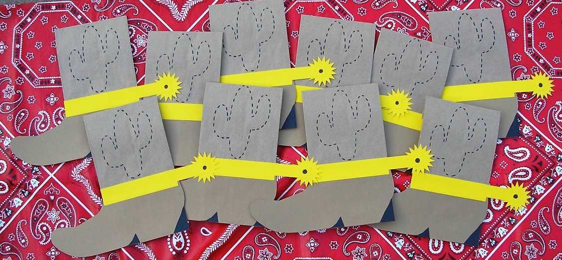 Cactus Cowboy Boot Birthday Party Favor Treat Sacks Western Theme Goody Bags by jettabees on Etsy. $15.00, via Etsy.