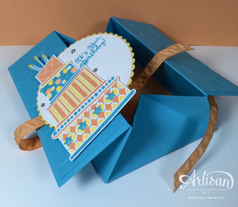 Fancy Folds Blog Hop Simple Box Card Stampin Up Pinterest