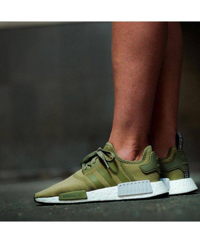 c8790b156f707 Chaussure Adidas NMD R1 Homme Olive Cargo Vert Adidas men s shoes ...