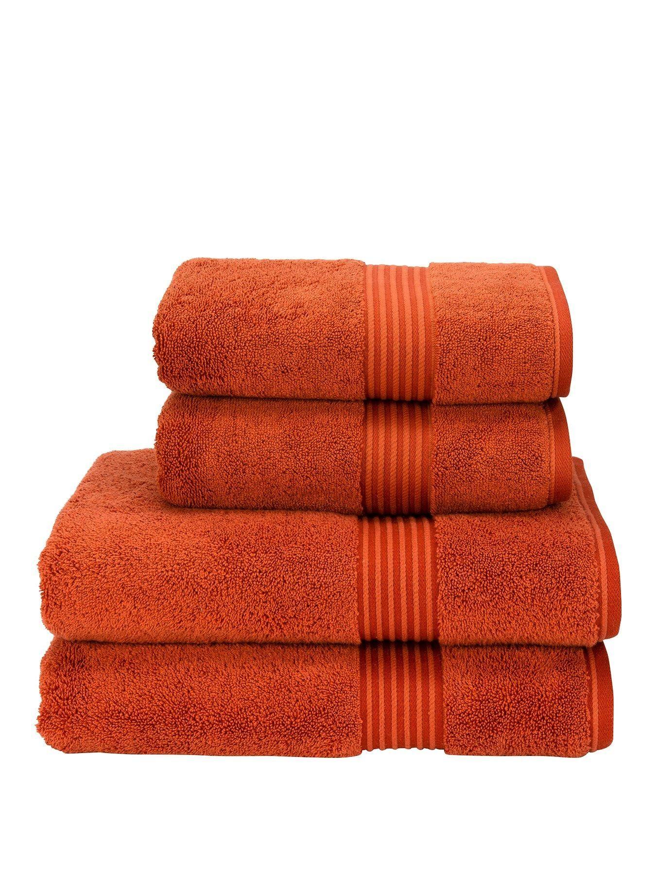 Supreme Hygro Supima Cotton Bath Towel Collection Paprika