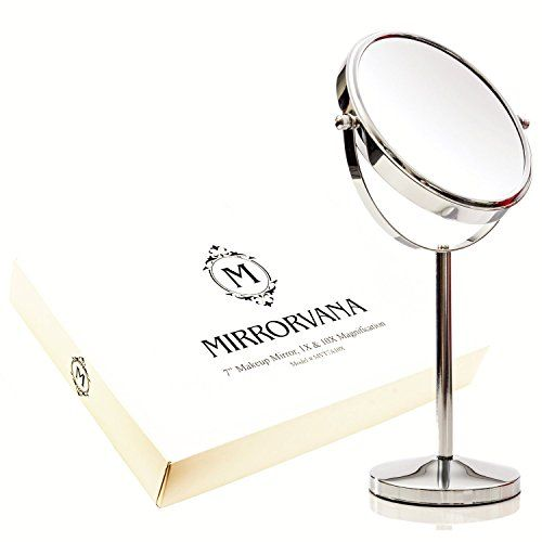 Awesome Amazon MIRRORVANA 7 Inch Vanity Makeup Mirror 1X and 10X Magnifying Mirrors Home & Kitchen Simple Elegant - Minimalist magnifying makeup mirror Inspirational