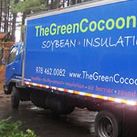 The Green Cocoon Soy Based Spray Foam Cellulose And Denim Insulation Spray Foam Home Insulation Eco Friendly House