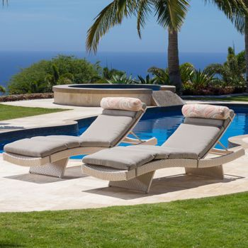 2 Cushions For Master Porch Chairs In Taupe Portofino Lounger