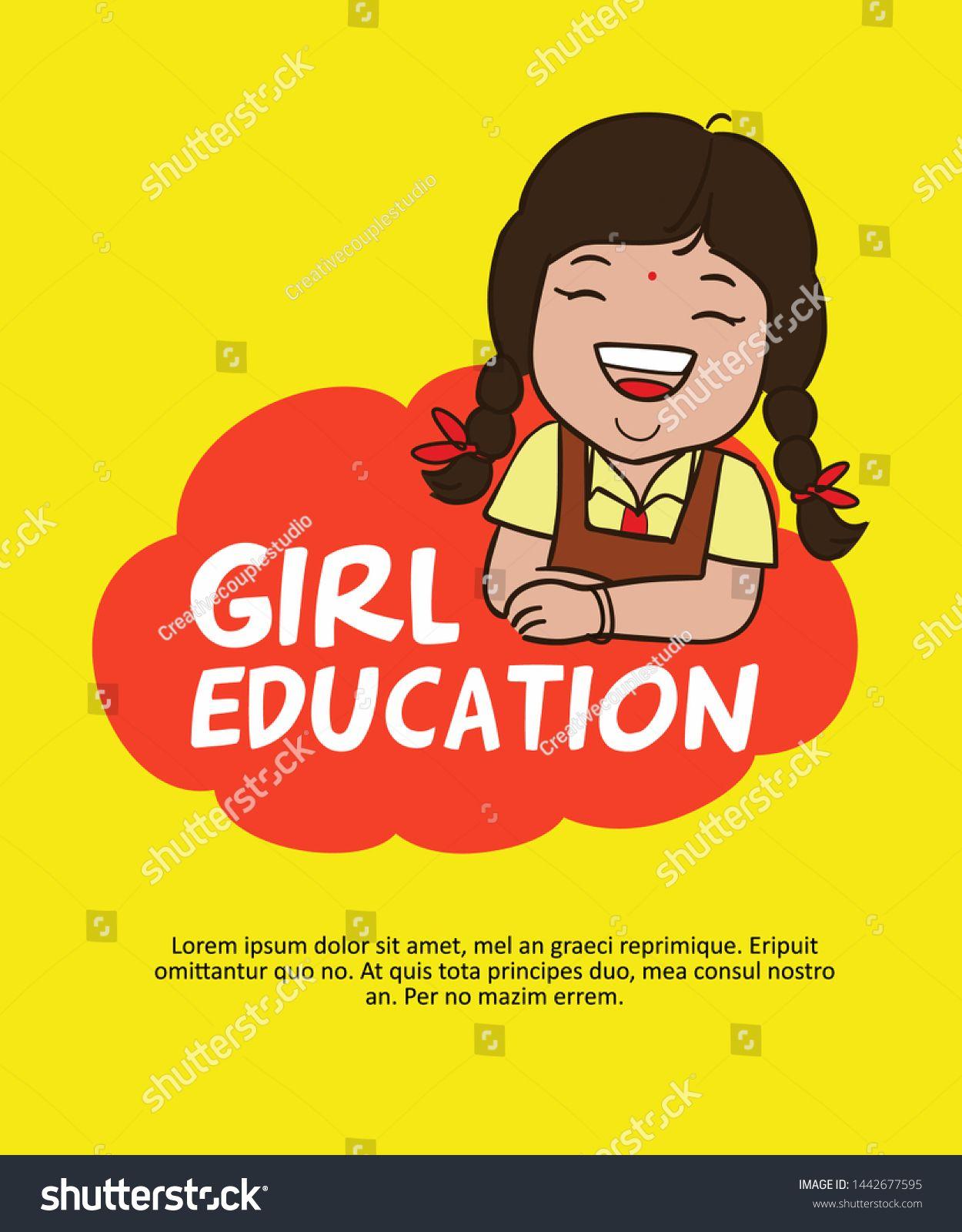 Cute Indian School Girl Cartoon Character Save Girl Girl Education Sponsored Affiliate School Girl In 2020 Girl Cartoon Characters Girls Education Girl Cartoon