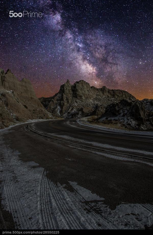 Fahrt über den Badlands - Lizenzfreies Foto
