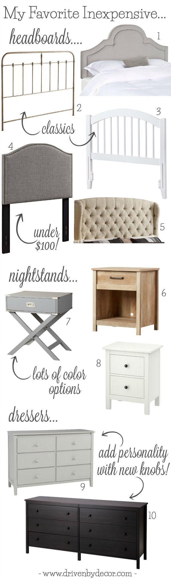 furniture pieces for bedrooms. My Favorite Inexpensive Bedroom Furniture Pieces - From Headboards To Nightstands Dressers! For Bedrooms