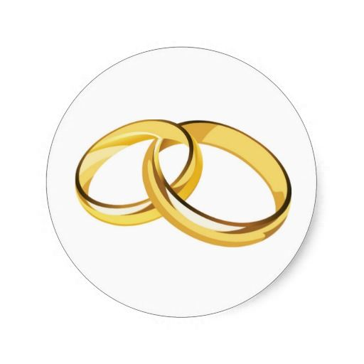 Wedding rings classic round sticker pinterest round stickers wedding rings round sticker altavistaventures Image collections