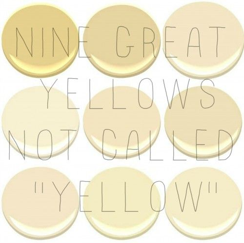 THE BEST INTERIOR YELLOWS | Benjamin moore yellow, Benjamin moore ...