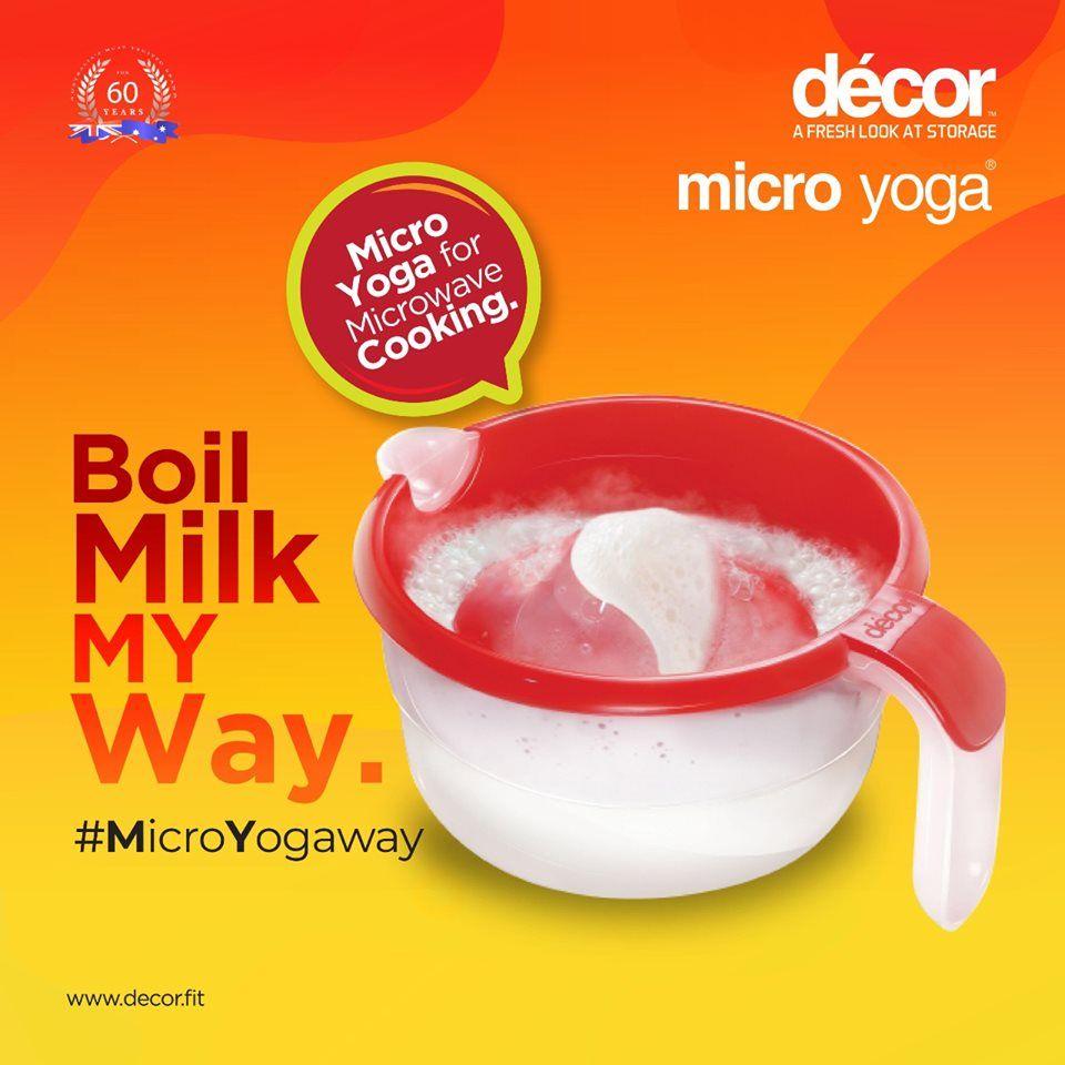 Micro yoga smart jug for milk microwave cooking