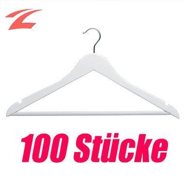 Garderobenbügel znl 100 stück holz kleiderbügel garderobenbügel holzbügel mit
