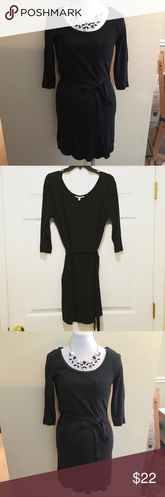 Banana republic black long sleeve wrap dress xs my posh picks