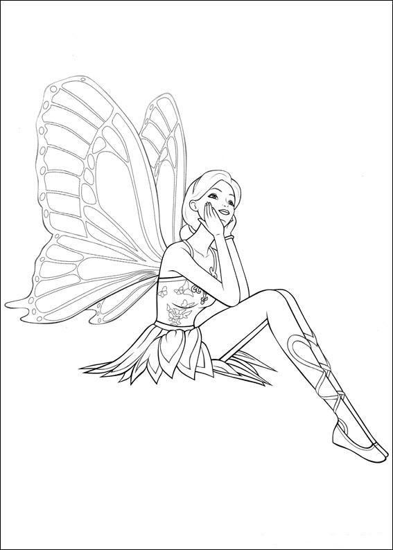 Kleurplaten En Zo Kleurplaten Van Barbi Mariposa Fairys