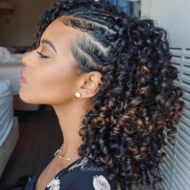 Curly Braids Box Braids Hairstyles Braided Hairstyles Box Braids Styling