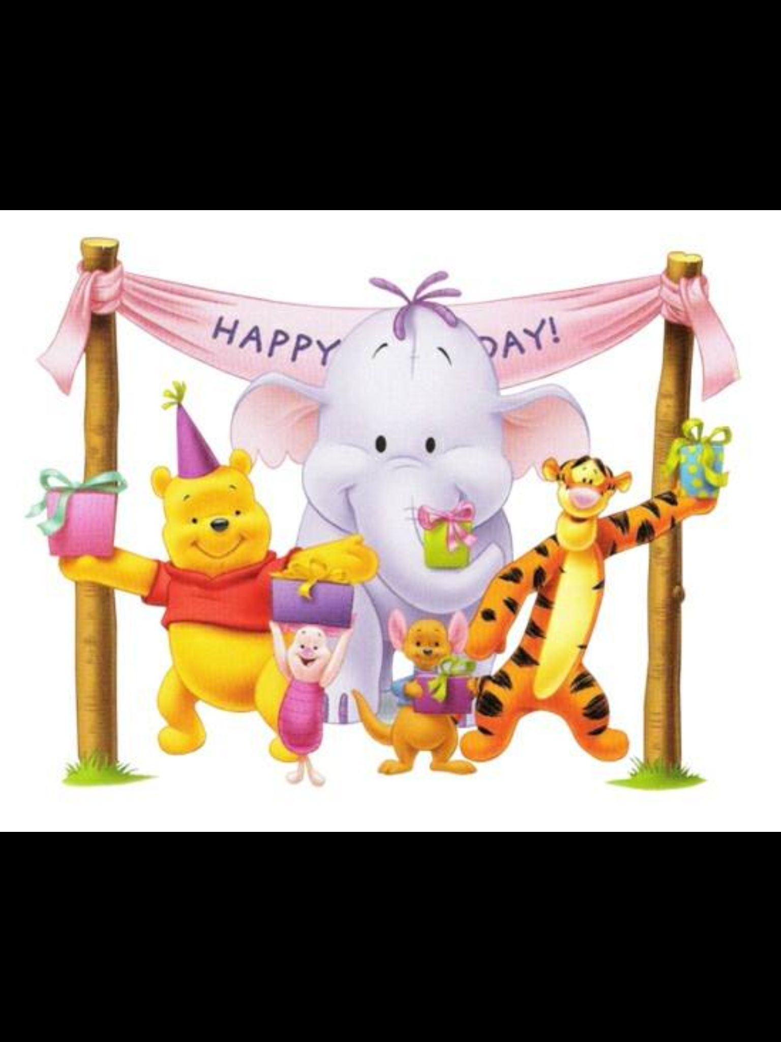 Happy birthday winnie the pooh party pinterest happy birthday free disney birthday clipart and disney animated gifs disney graphic characters brought to you by triplets and us kristyandbryce Choice Image