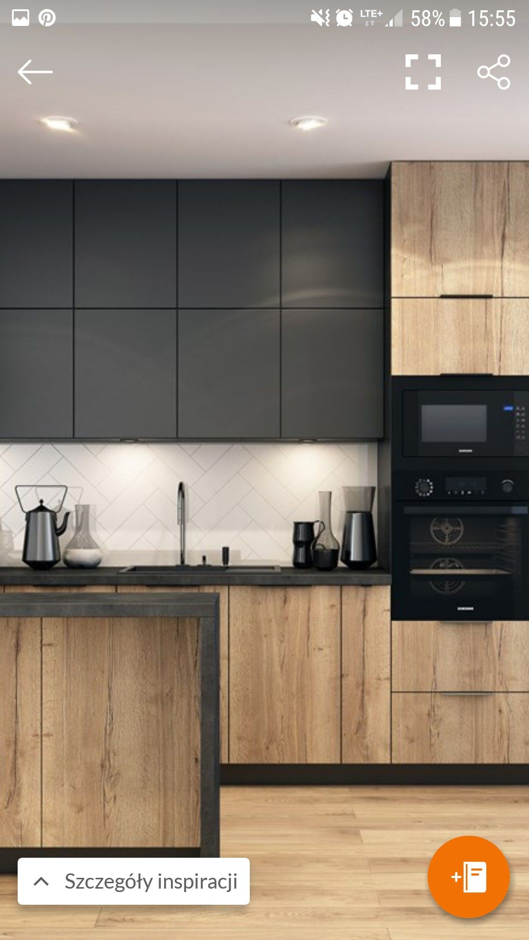 Cuisine noire et bois cuisine en 2019 maison cuisine loft et cuisine appartement - Cucine poggenpohl ...