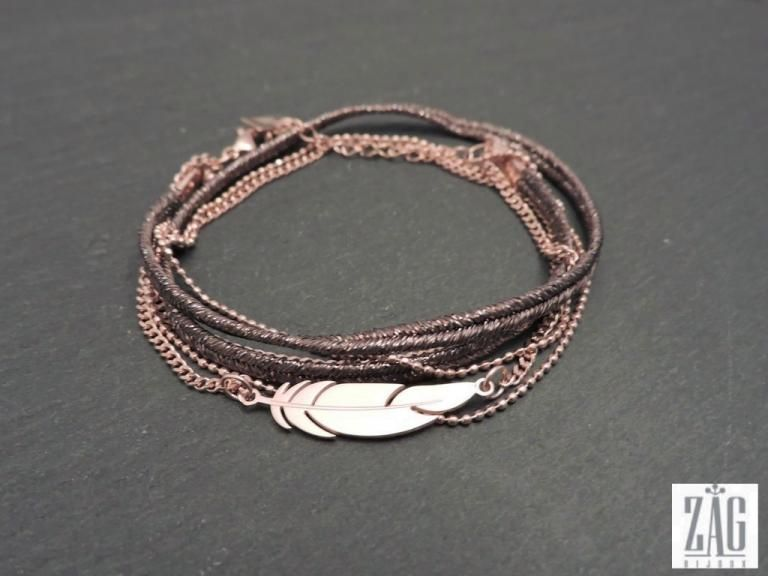 Bracelet zag lucky charm