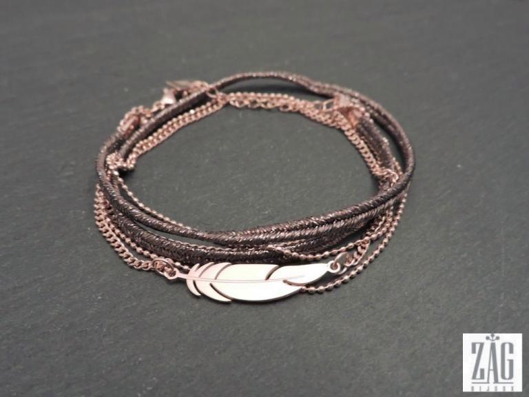 ZAG Bijoux Blue thread bracelet VjdgOS