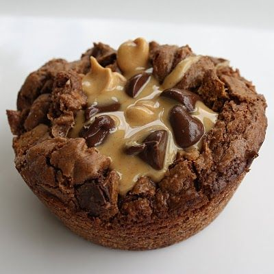 Brownie/Peanut Butter cups with Caramel lava...delicious!