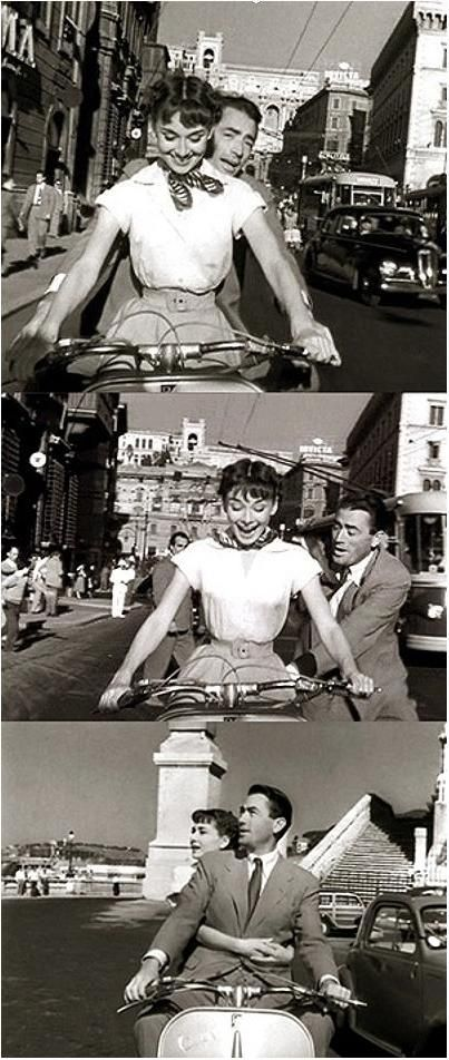 Audrey Hepburn and Gregory Peck in ''Roman Holiday'' (1953)
