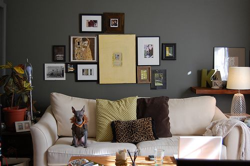 Luxury Wall Grouping Behind sofa