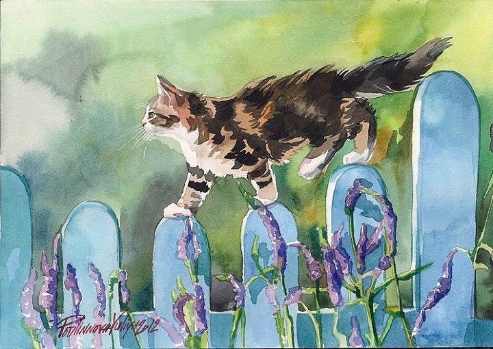 Feline Fine Art by Yuliya Podlinnova