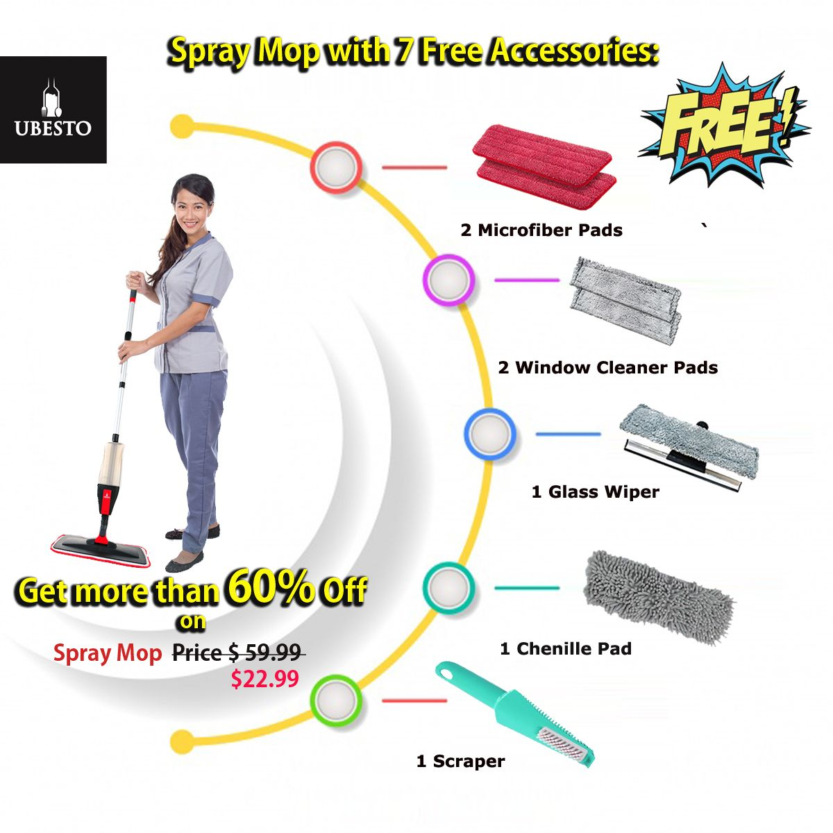 Spray Mop Spray Mops Microfiber Mop Pads Window Cleaner